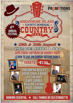 TC Promotions Arranmore Country Festival poster